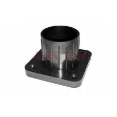 Флянец для трубы -d-50мм пластмассовый черный