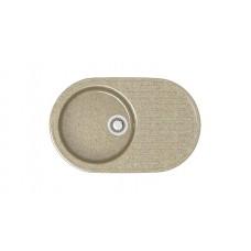 Мойка глянцевая Наоми L11G34  720х455х185мм Песочный в комплекте сифон, герметик,фреза. VERBA