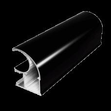 Вертикальный профиль С ПРЕМИАЛ Черный глянец 5,4 м  1,2мм  PREMIAL