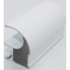 Вертикальный профиль С  Белый глянец 5,35м    1мм Аристо
